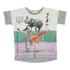 Grey Animal Pyramid T-Shirt