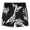 GIVENCHY-BERMUDA SHORTS-H04087-M41 BLACK WHITE