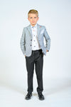Moustache-7207 Blue Grey Blazer-Jackets