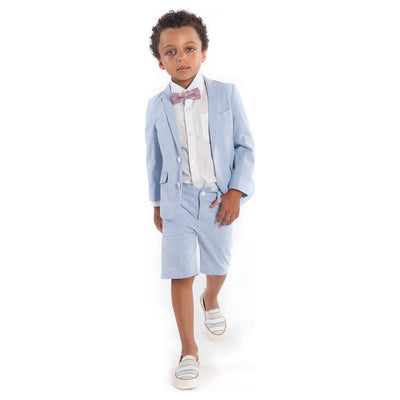 Appaman Blue Bengal Stripe Short Suit Set