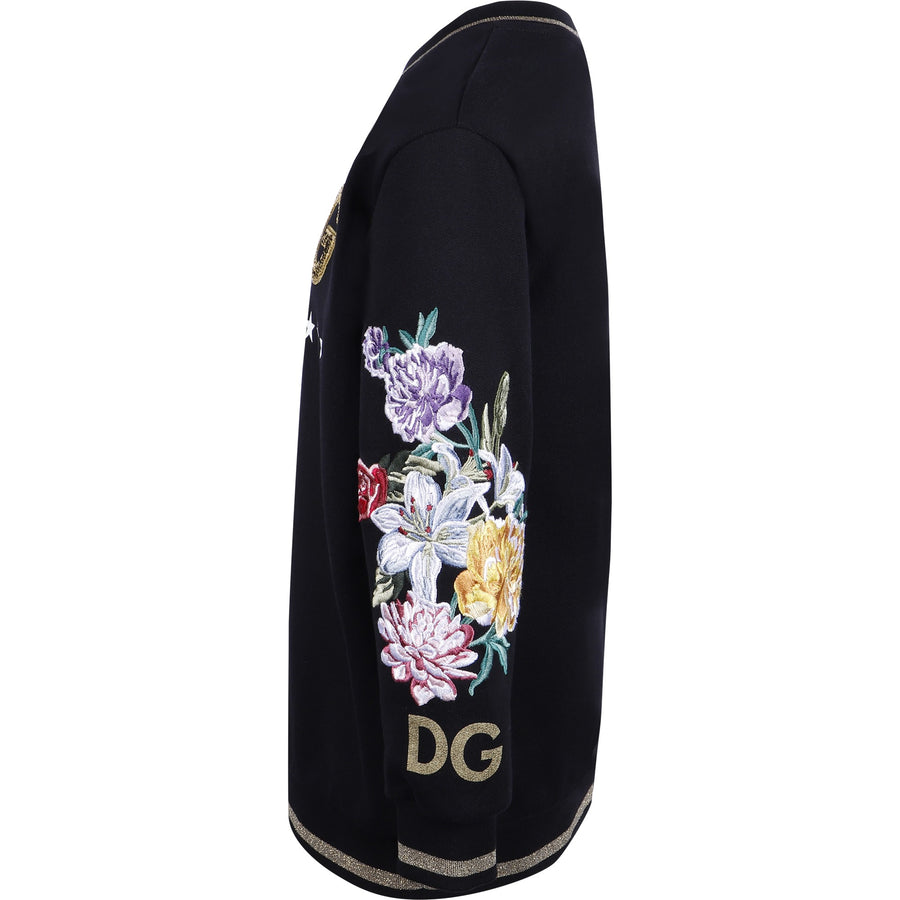 Dolce & Gabbana Black Logo Sweater Dress