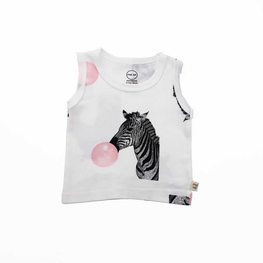 WHITE ZEBRA TANK TOP SET