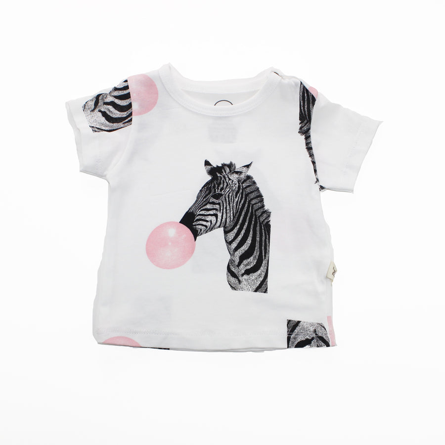 WHITE ZEBRA T-SHIRT SET