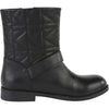 Black Quilted Leather Boots