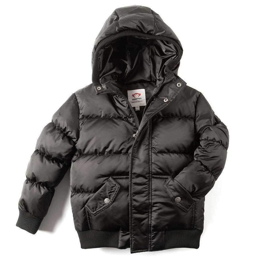Appaman Black Puffy Coat-Outerwear-Appaman-kids atelier