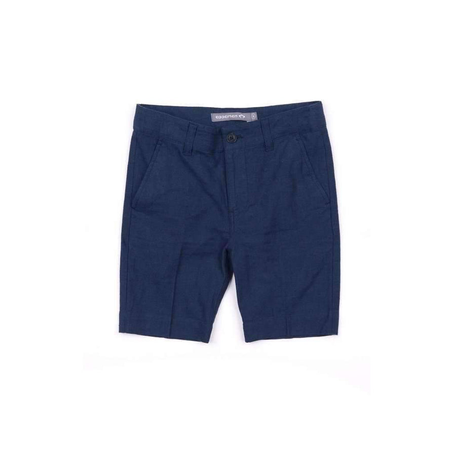 Appaman Navy Blue Herringbone Trouser Shorts-Shorts-Appaman-kids atelier