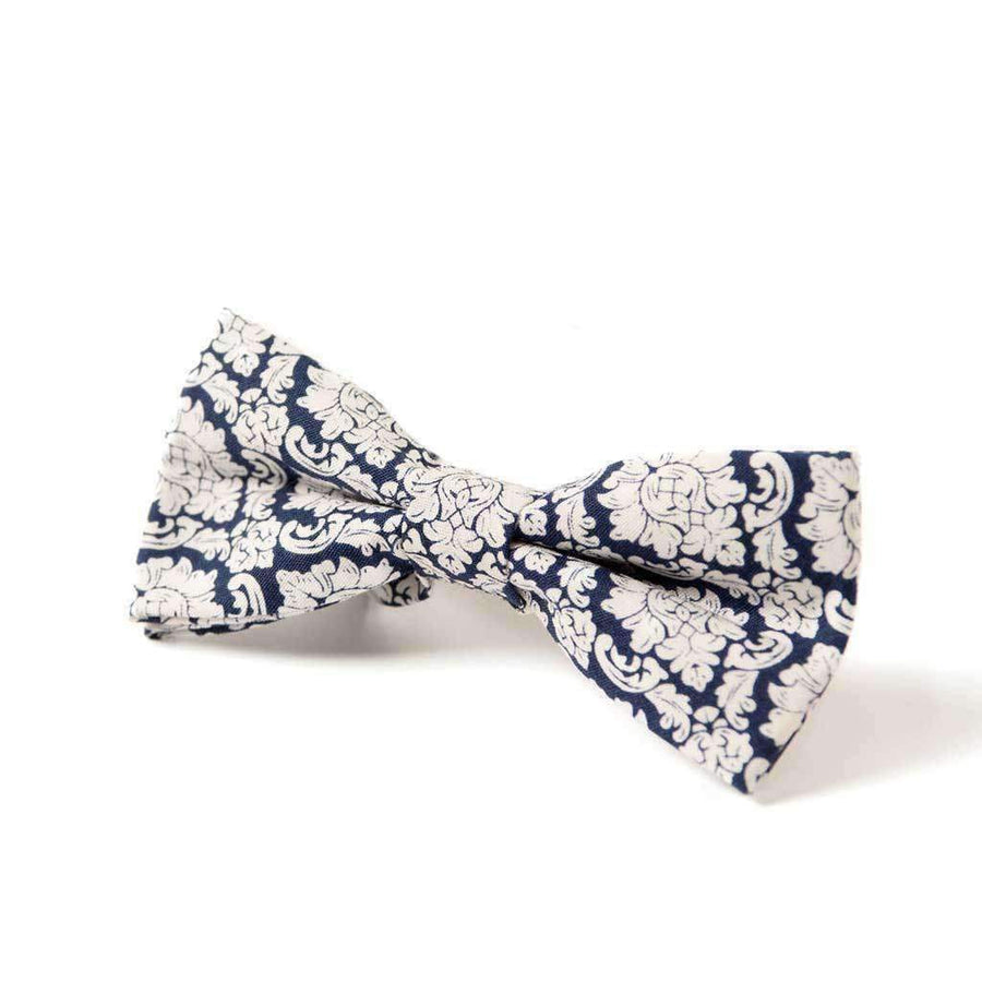 Appaman Navy Damask Bow Tie-Accessories-Appaman-One Size-kids atelier