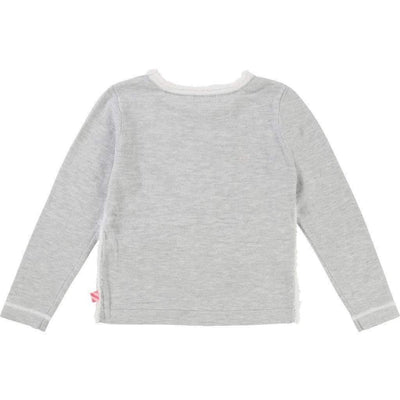Billieblush Gray Swan Knit Sweater-Shirts-Billieblush-kids atelier