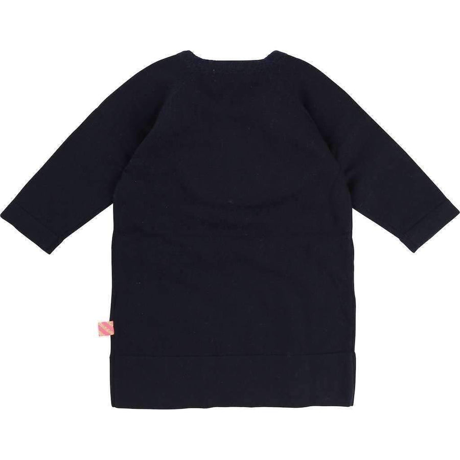 Billieblush Navy Rabbit Knit Dress-Dresses-Billieblush-kids atelier