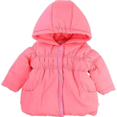 Billieblush Pink Hooded Puffer Jacket-Outerwear-Billieblush-kids atelier