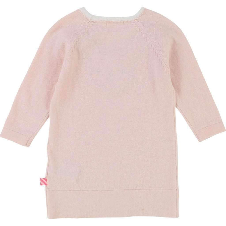 Billieblush Pink Rabbit Knit Dress-Dresses-Billieblush-kids atelier