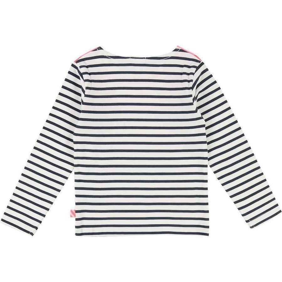 Billieblush Striped Faux Collar T-Shirt