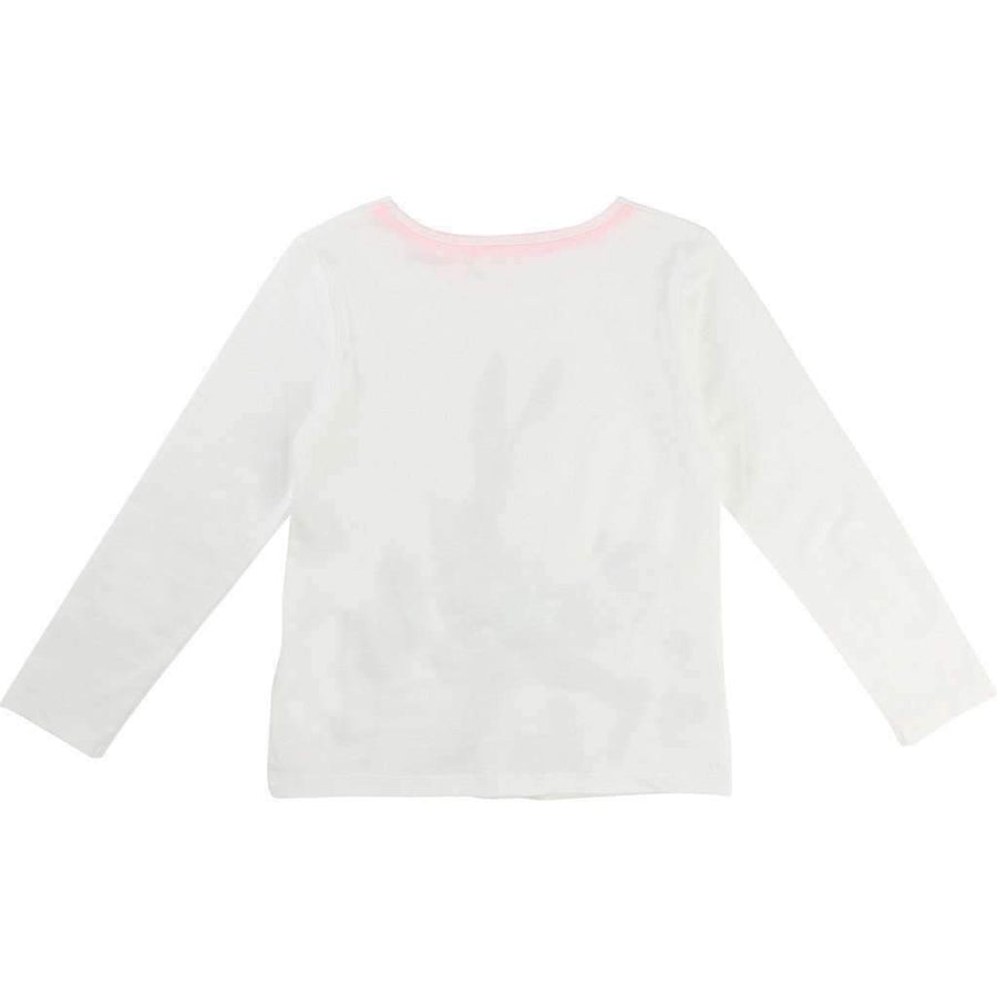 Billieblush White Rabbit Jersey Shirt-Shirts-Billieblush-kids atelier