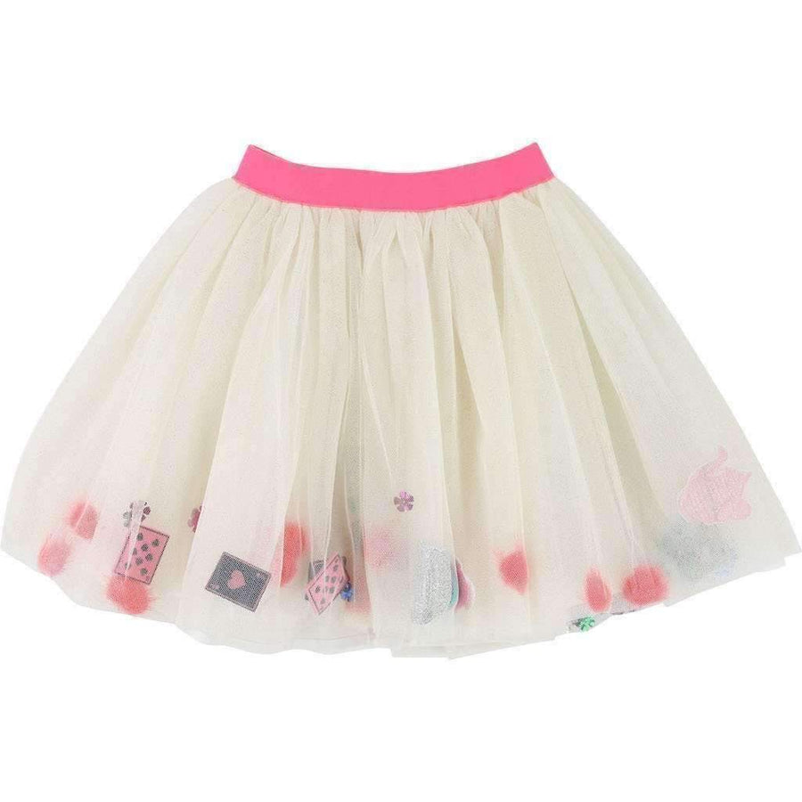 Billieblush White Sequin Tutu Skirt