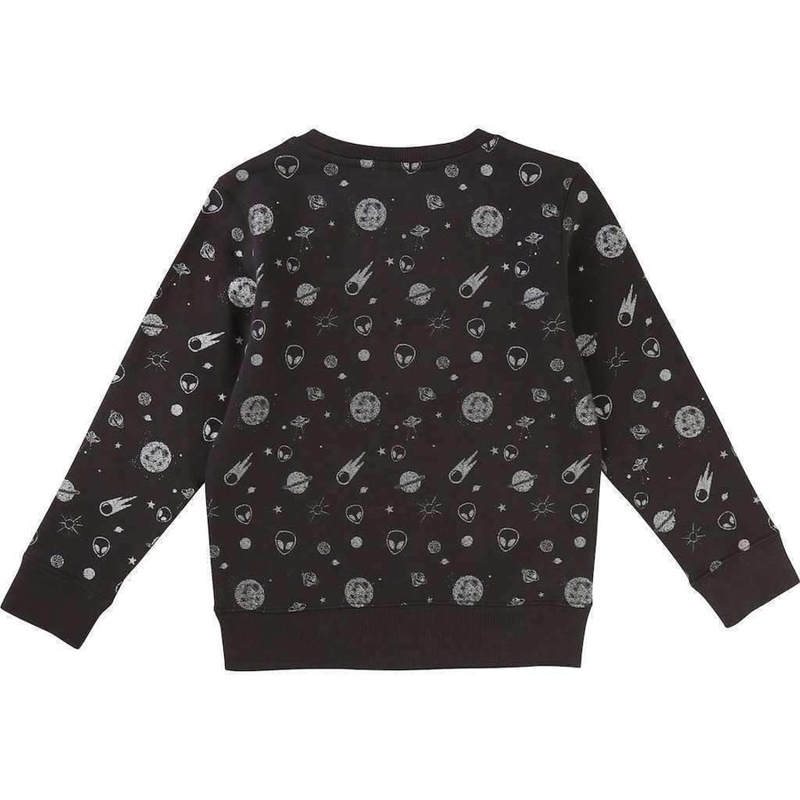 BillyBandit Charcoal Gray Space Sweatshirt