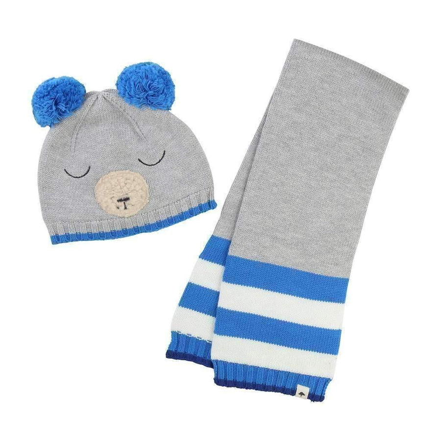 Gray Bear Hat + Scarf