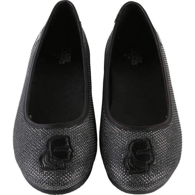 Black Ballerina Shoes-Shoes-Karl Lagerfeld-kids atelier