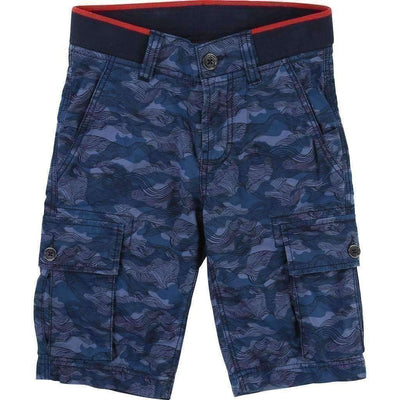 Blue Bermuda Shorts-Shorts-BOSS-kids atelier
