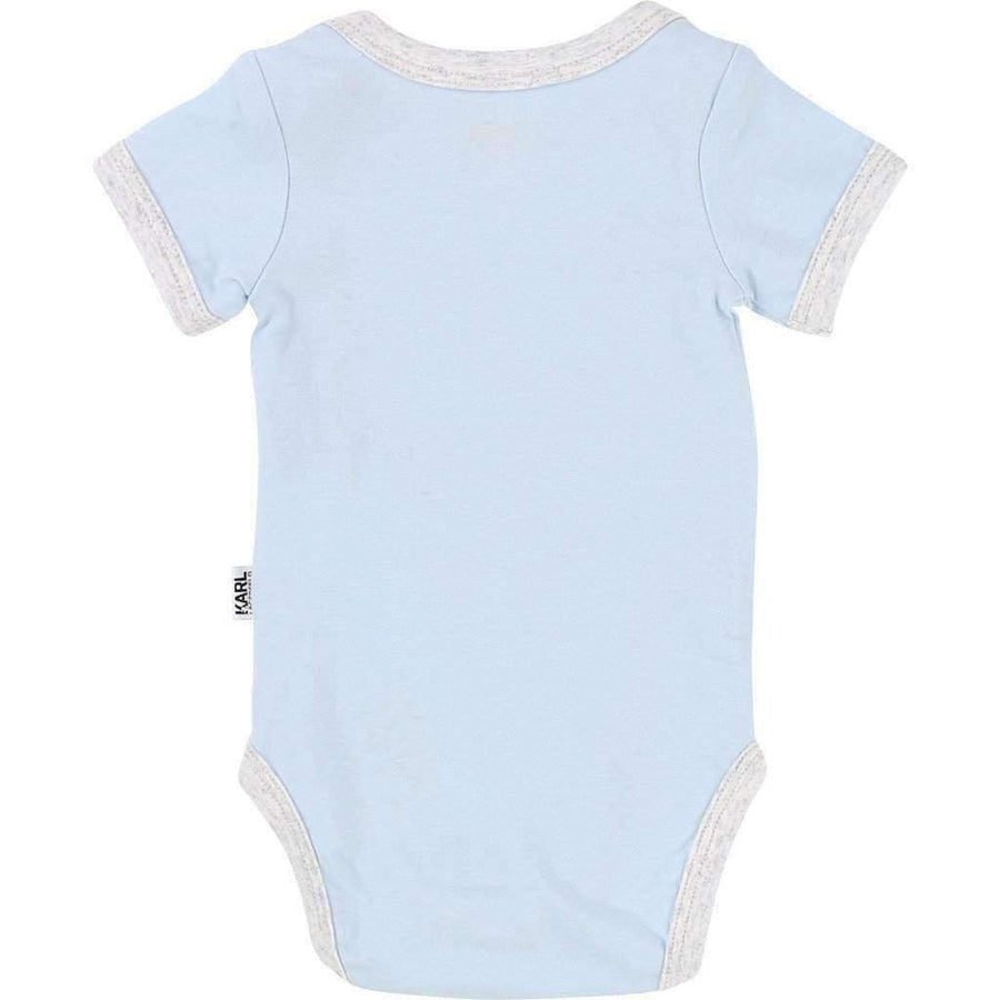 Blue Bodysuit & Bib Set