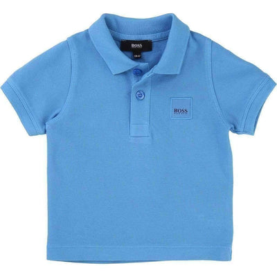 Blue Classic Polo-Shirts-BOSS-kids atelier