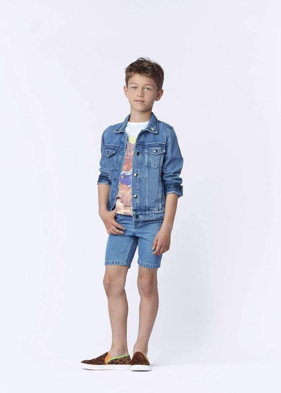 Blue Denim Bandit Jacket-Outerwear-Billybandit-kids atelier