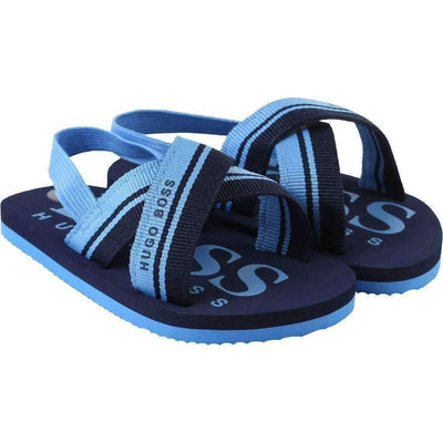 Blue Flip Flops-Shoes-BOSS-kids atelier