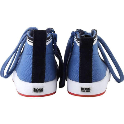 Blue High Top Shoes-Shoes-BOSS-kids atelier