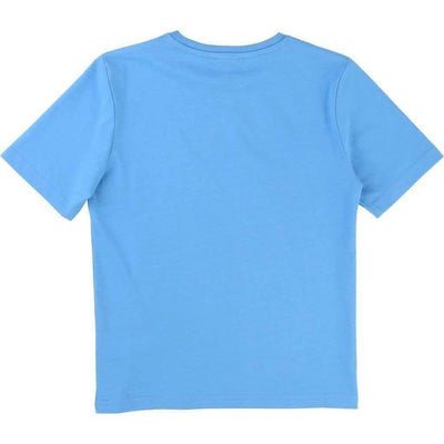 Blue Relief Logo T-Shirt-Shirts-BOSS-kids atelier