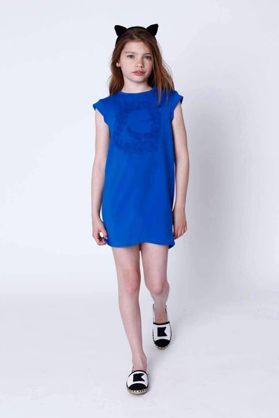 Blue Silhouette Dress-Dresses-Karl Lagerfeld-kids atelier