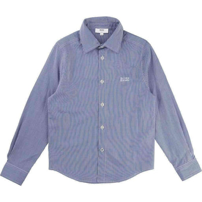 Blue Striped Shirt-Shirts-BOSS-kids atelier