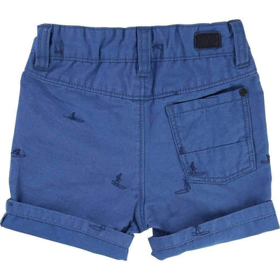 Blue Surfer Embroidered Shorts-Shorts-BOSS-kids atelier