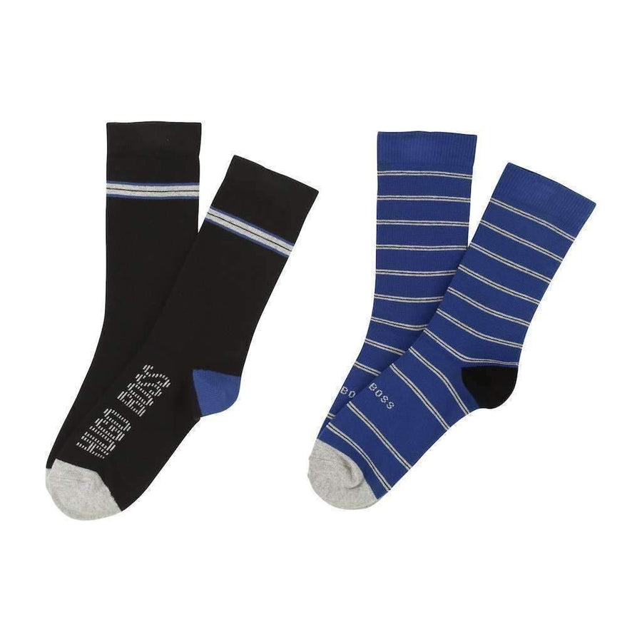 Boss Black & Blue Jacquard Socks
