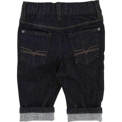 Boss Black Denim Cotton Pants-Pants-BOSS-kids atelier
