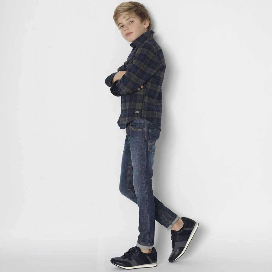 Boss Black Suede Trainer Shoes-Shoes-BOSS-kids atelier