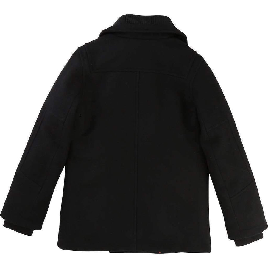 Boss Black Wool Knitted Sailor Coat