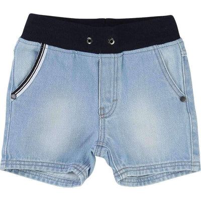 Boss Bleached Denim Shorts-Shorts-BOSS-kids atelier