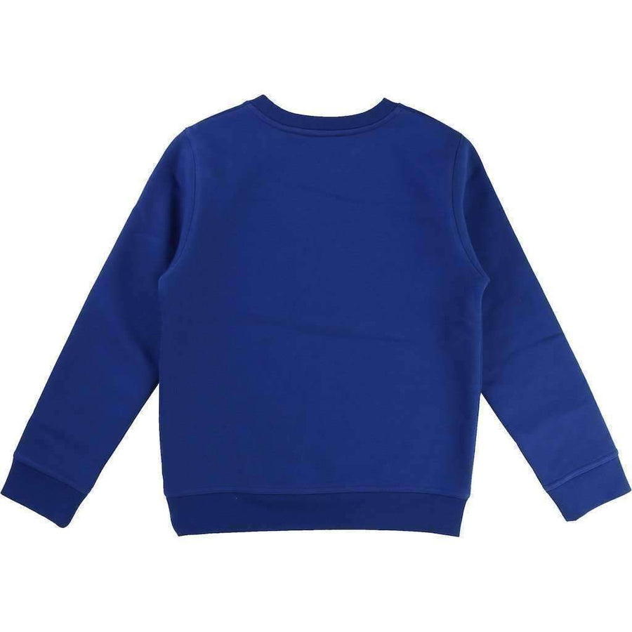 Boss Blue Fleece Sweatshirt-Shirts-BOSS-kids atelier