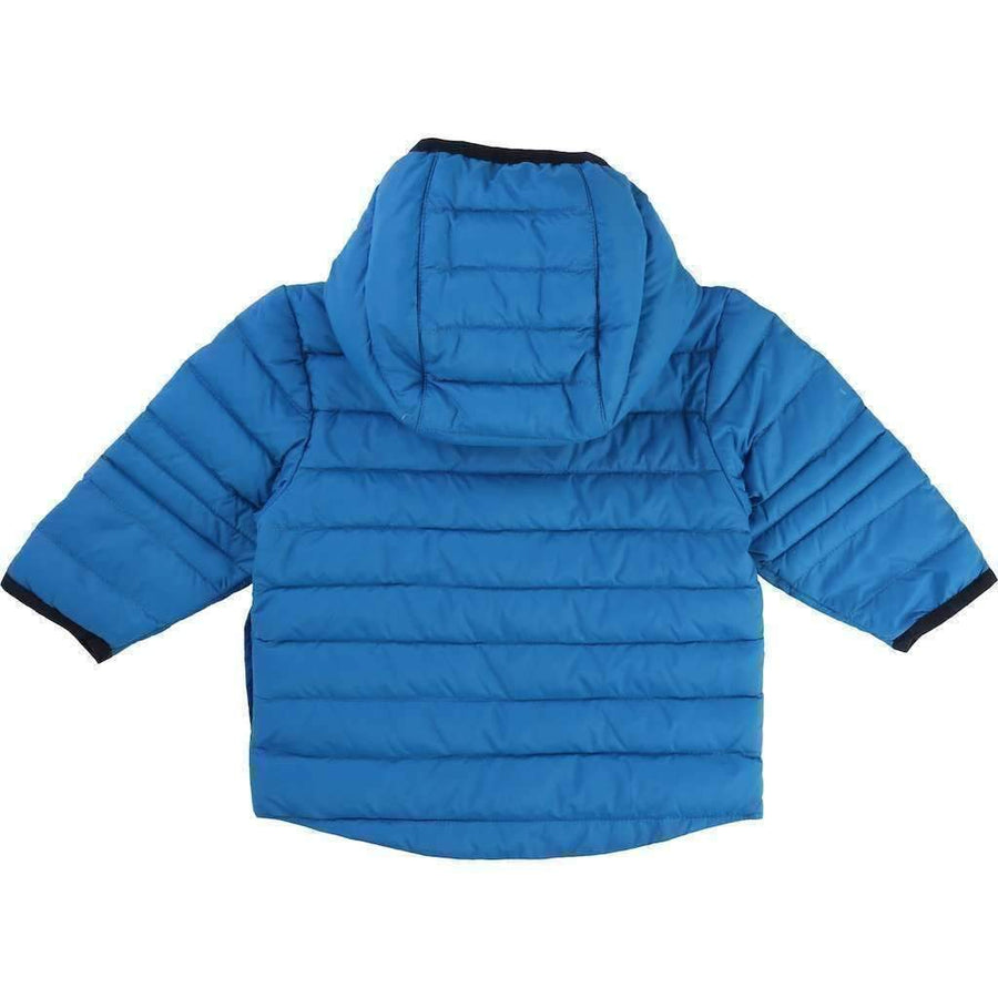 Boss Blue Nylon Puffer Jacket