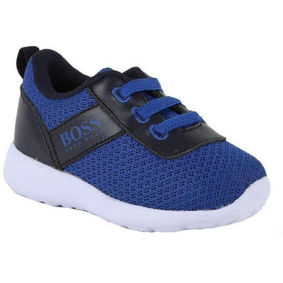 Boss Blue Trainer Shoes-Shoes-BOSS-kids atelier