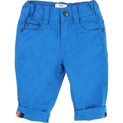 Boss Blue Twill Pants-Pants-BOSS-kids atelier