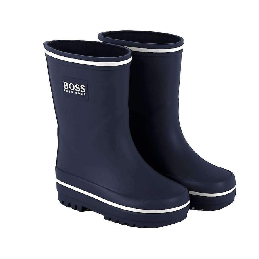 Boss Blue Wellington Rain Boots