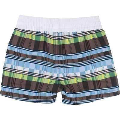 Boss Checkered Swim Shorts-Swimwear-BOSS-kids atelier