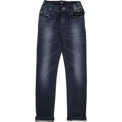 Boss Cotton Denim Treated Pants-Pants-BOSS-kids atelier