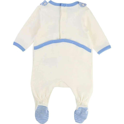 Boss Cream Pajamas & Bib Set-Pajamas-BOSS-kids atelier