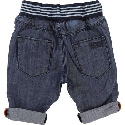 Boss Denim Striped Belt Pants-Pants-BOSS-kids atelier