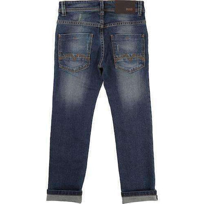 Boss Denim Trousers-Pants-BOSS-kids atelier