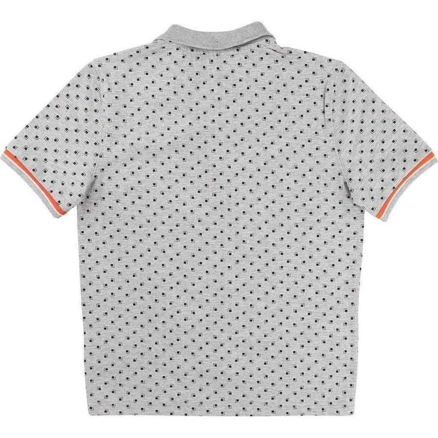 Boss Gray Patterned Polo-Shirts-BOSS-kids atelier