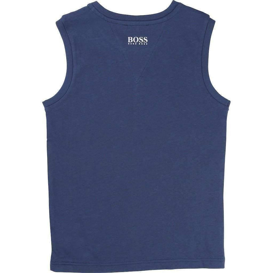 Boss Navy Summer Tank Top-Shirts-BOSS-kids atelier