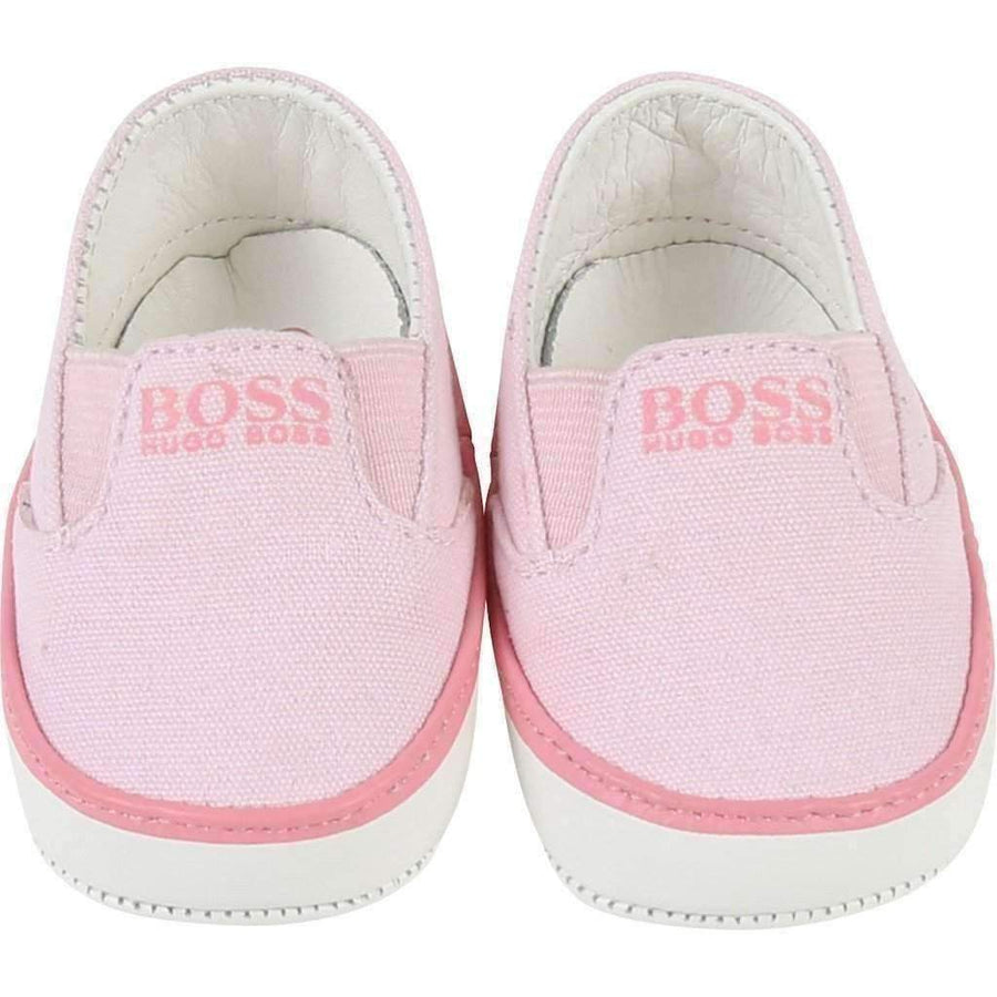 Boss Pink Canvas Shoes