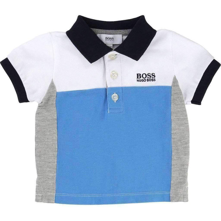 Boss Polo & Navy Shorts Set